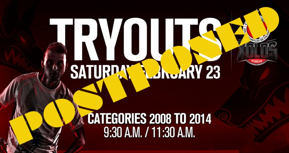 TRYOUTS MARCH 2, 2019